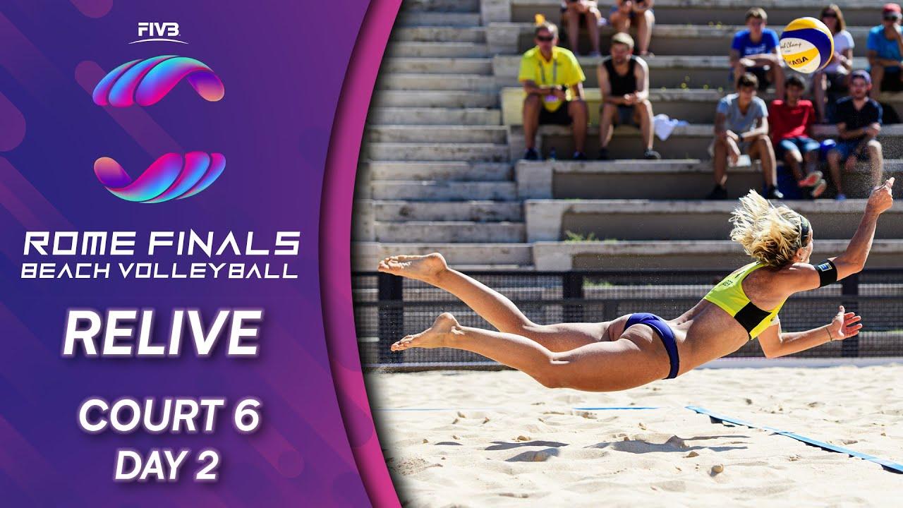 FIVB Beach Volleyball World Tour Finals 2019 | Court 6 - Day 2 | Rome
