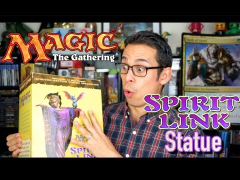 "Magic The Gathering - 1998 ""Spirit Link"" Statue Unboxing"