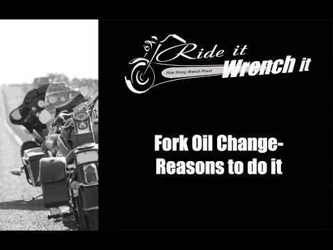 How to Change the Fork Oil on a Motrocycle - Ride it Wrench It
