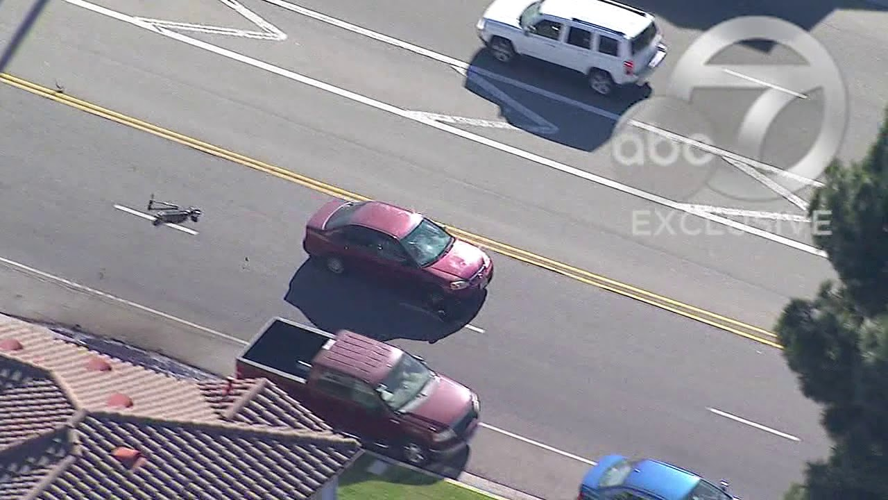RAW VIDEO: Man riding scooter run over during Los Angeles police chase |  ABC7