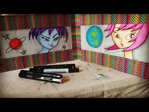 Crazy Cartoon Copic Coloring - How to Color, Shade and Blend with Alcohol Based Markers