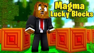 Gambar cover Minecraft King Of The HIll Magma Lucky Block Battle - Minecraft Modded Minigame | JeromeASF