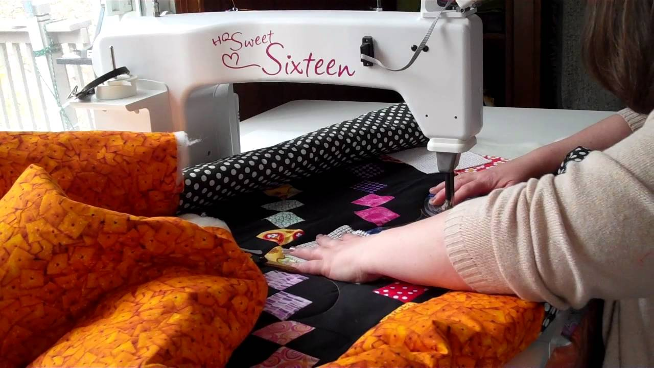 How I Manage a Larger Quilt on a Sit-Down Longarm - YouTube : sit down long arm quilting machine - Adamdwight.com