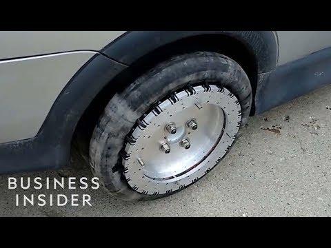 Omnidirectional Wheel Allows Cars To Glide Sideways