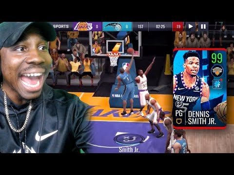 99 OVR DENNIS SMITH JR. POSTER DUNKING! NBA Live Mobile 19 Season 3 Ep. 45