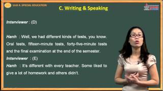 Tiếng anh lớp 10 - Special Education - Writing - Speaking