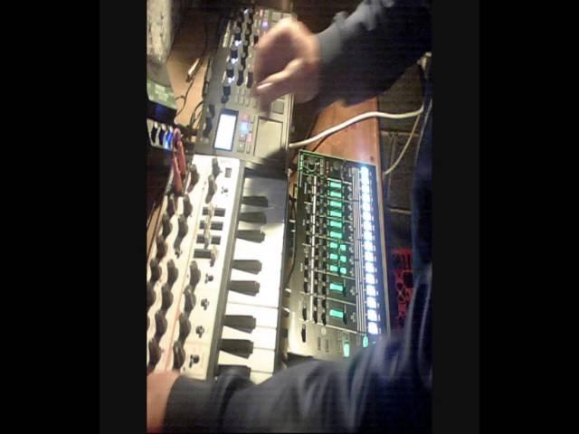 BGR - (live) Hard Nasty Techno Experiment ! Roland TR-8 - Microbrute - Korg Electribe Sampler