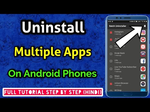 uninstall multiple apps android