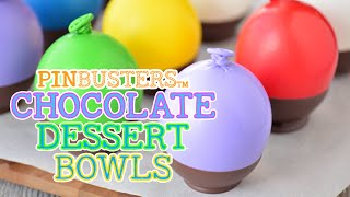 Making Chocolate Dessert Bowls With Balloons // WE TRIED IT!