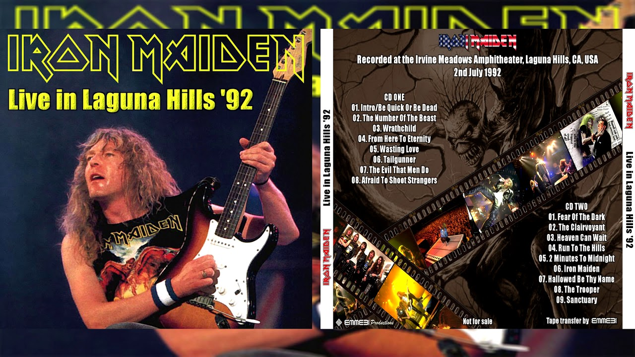 Iron Maiden Live In Laguna Hills 1992 (Full Bootleg)