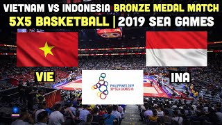 Highlights: Vietnam vs Indonesia | 5X5 Mens Basketball Bronze Medal Match | 2019 SEA Games