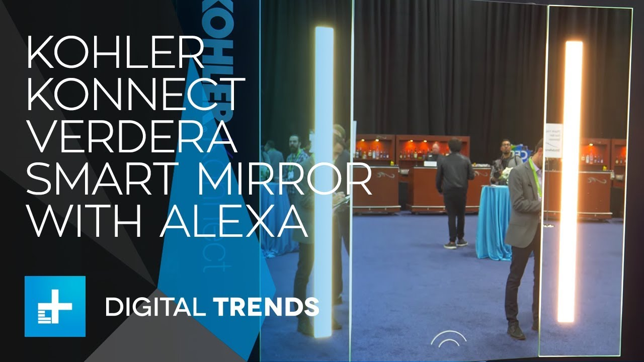 Kohler Konnect Verdera Smart Mirror with Alexa at CES 2018