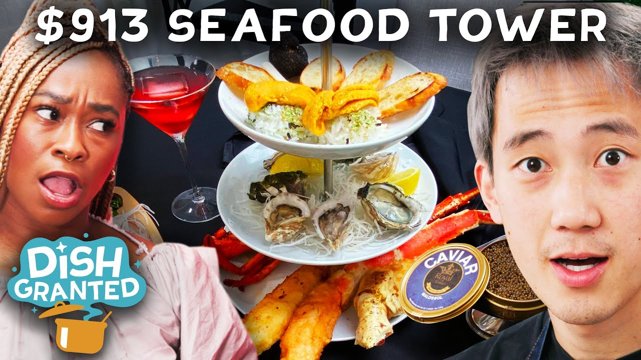 I Made a $913 Seafood Tower for Freddie from Ladylike • Dish Granted