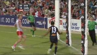 Silky smooth Chris Yarran kicks one of the GOALS OF THE YEAR for 2010