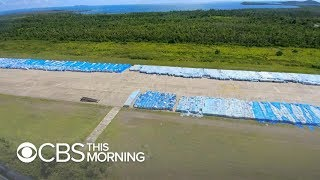 What may be millions of water bottles from FEMA sitting on Puerto Rico tarmac, photos show
