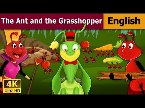 The Ant And The Grasshopper  - Fairy Tales - Bedtime Stories - 4K UHD - English Fairy Tales