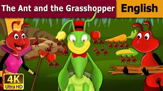 Ant and The Grasshopper in English - Fairy Tales - Bedtime Stories - 4K UHD - English Fairy Tales