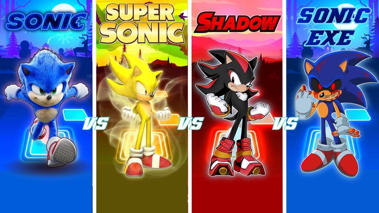 Download Sonic Vs Super Sonic Vs Shadow Vs Sonic EXE - Tiles Hop