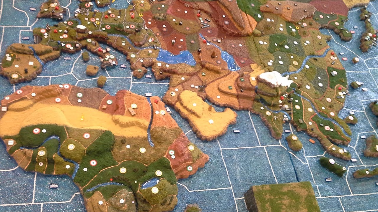Axis and Allies   3D Terrain Map   Complete   YouTube