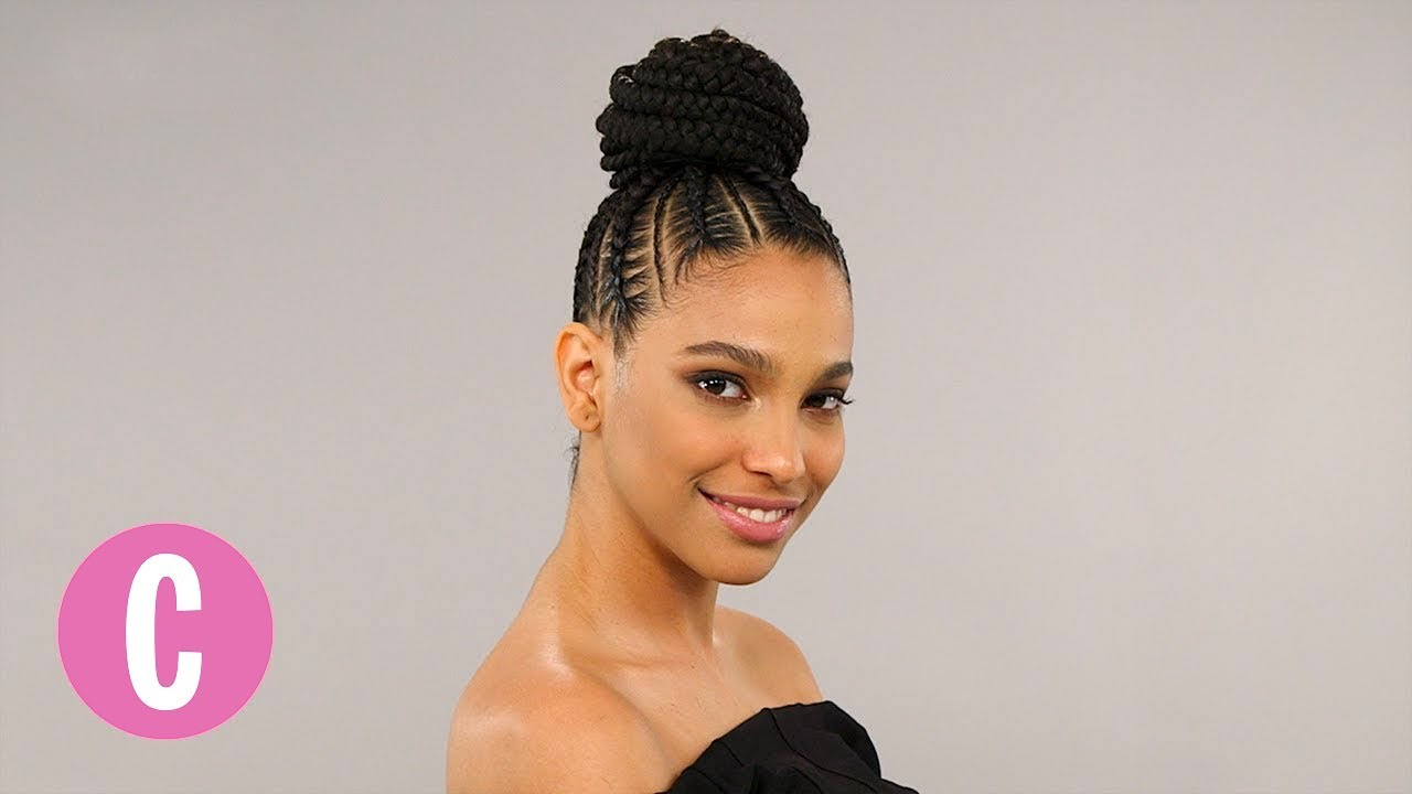 this braided bun will make you want to step up your hair game | the braid up | cosmopolitan