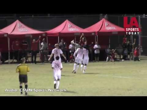 CSUN's Grinde scores the winning goal against Tulsa