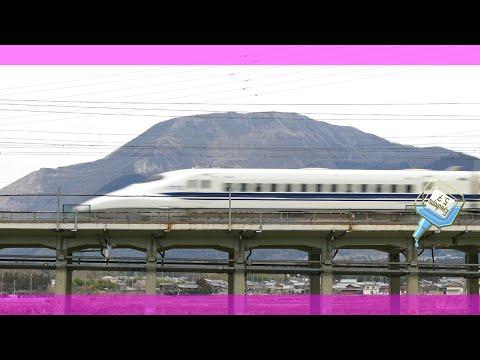 16 Bullet train,東海道新幹線 通過 米原 伊吹山,Shinkansen,Tren bala,Japón.