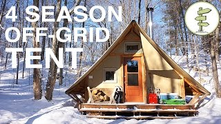One of Exploring Alternatives's most viewed videos: Off-Grid Prospector-Style Tent: A Tiny House Alternative