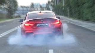 BMW M4 F82 with REMUS EXHAUST  **INSANE BURNOUT!**🔥😈