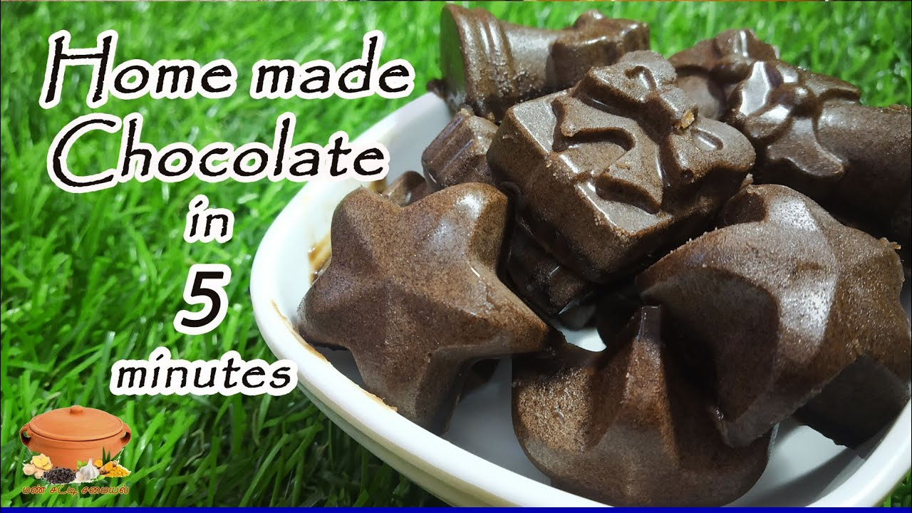 Chocolate Recipe in Tamil   Homemade Chocolate   How to ...
