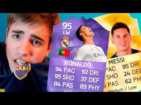 MESSI & CRISTIANO RONALDO HEROE SQUAD - FIFA 16 Ultimate Team FUT DRAFT