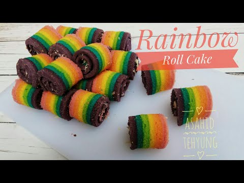 How To Make Rainbow Roll Cake