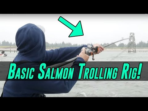 Basic SALMON Fishing Trolling Rig | EASY To Setup & Catches FISH!