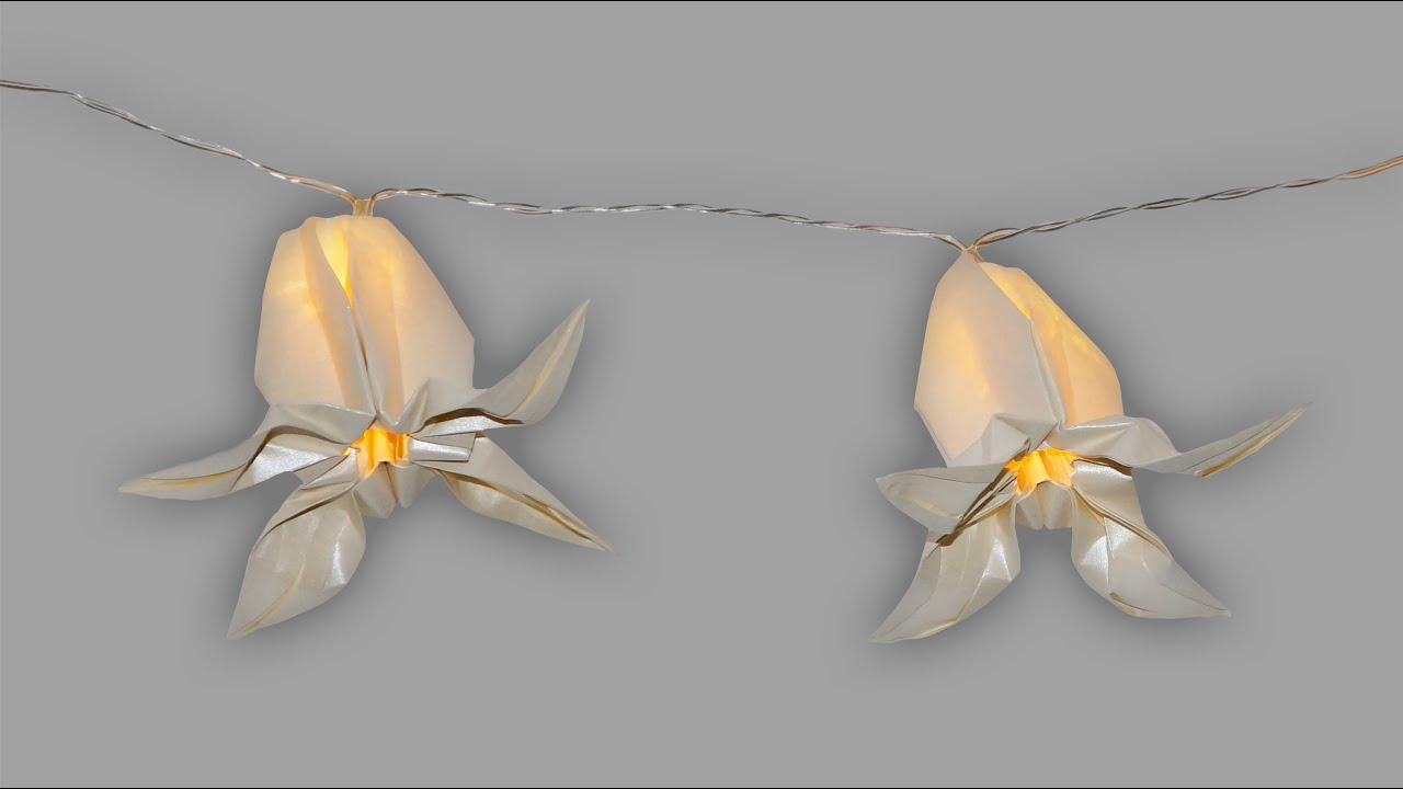 origami lampion blume faltanleitung lichterkette live erkl rt youtube. Black Bedroom Furniture Sets. Home Design Ideas