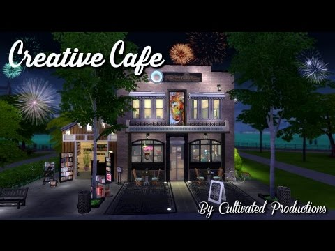 The Sims 4 Speed Build | Creative Cafe'