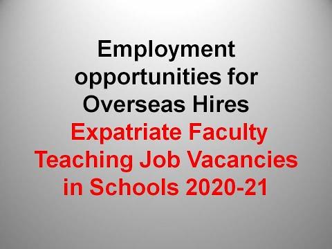 #Overcome Teaching Job International School|| How To Apply ||Qualification || 2020-2021