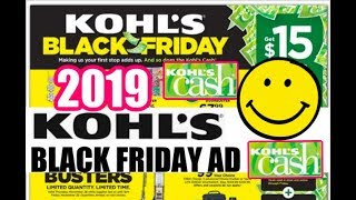 KOHL'S BLACK FRIDAY 2019 AD | Kohl's CASH DEALS, DOORBUSTERS & MORE!