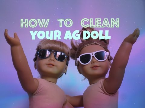 How to Clean Your American Girl Doll!!
