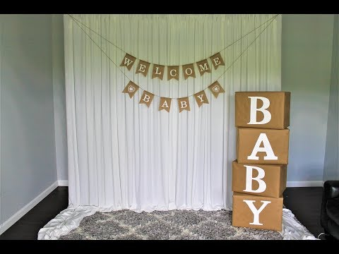 Baby Shower Backdrop DIY