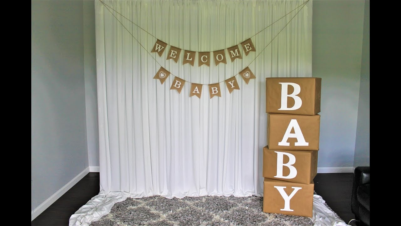 Baby Shower Backdrop Diy Youtube
