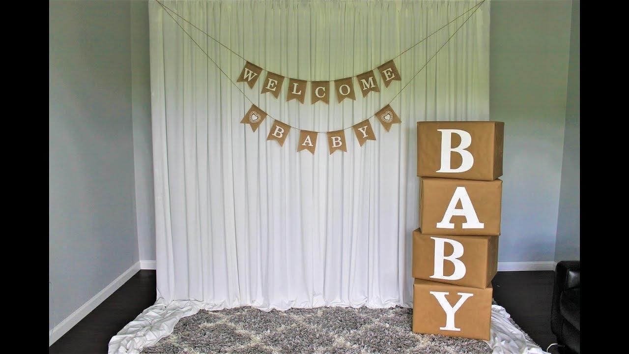 baby shower diy backdrop online