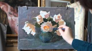 Научиться рисовать. Урок. Розы