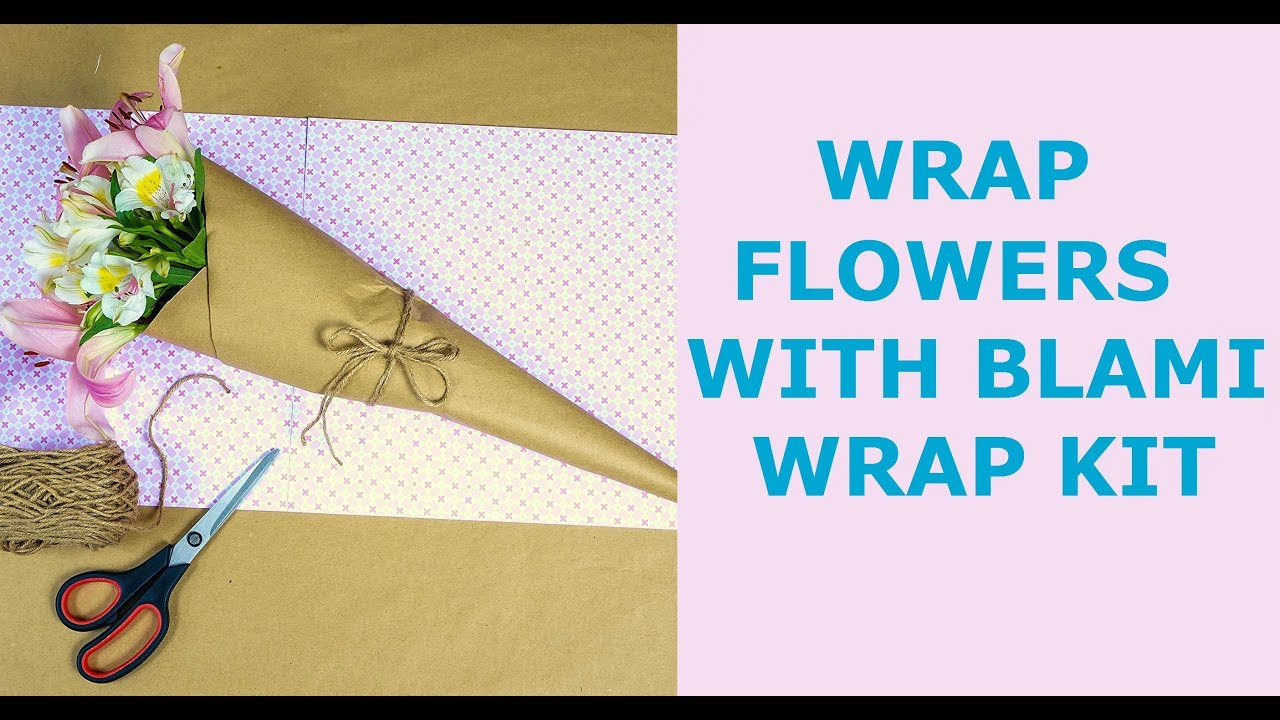 How To Use Blami Wrap Kit With Flowers Wrapping Paper 30 X100ft And Twine 200ft