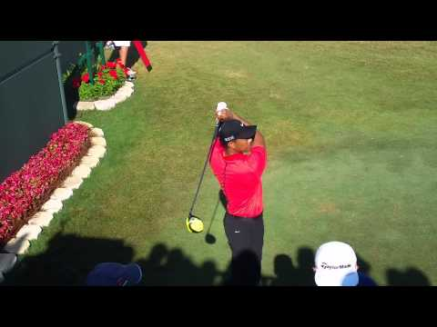 Tiger Woods TPC 2015 at the first tee