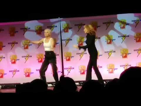 Gates McFadden and Nana Visitor Tap Dance at Florida Supercon!