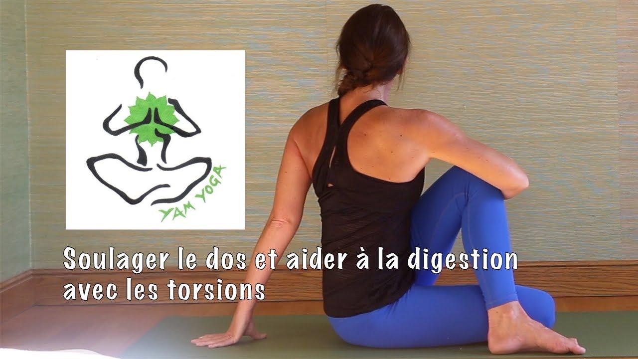 Pratique 32 - Yoga pour soulager le dos et aider la digestion avec les  torsions. Emmanuelle YamYoga 01944c3f95a