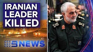Iranian military leader killed in US drone strike | Nine News Australia