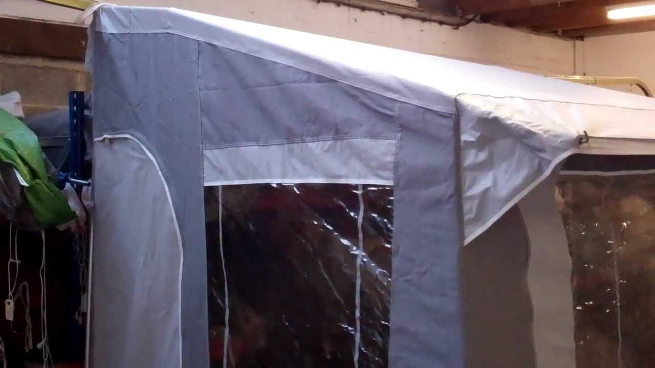 Trio Mini caravan porch awning - YouTube