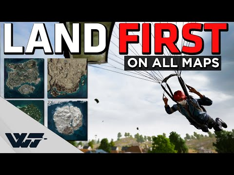 HOW TO LAND FIRST - On ALL Maps - Easy method - PUBG