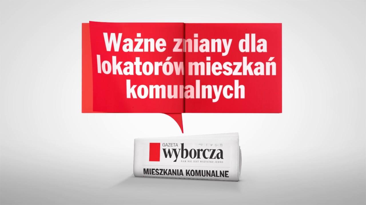 """Ważne zmiany dla lokatorów mieszkań komunalnych – informator w """"Wyborczej"""""""