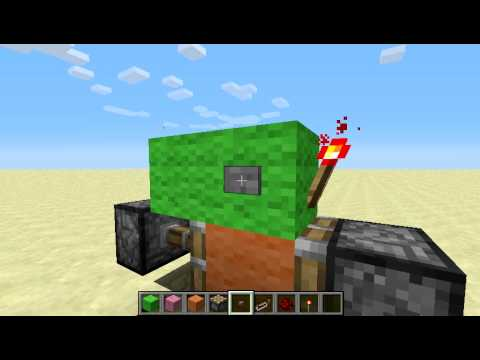 How To Build A Simple Redstone Button On/off Switch In Minecraft